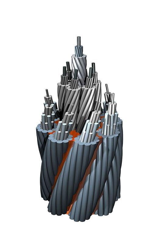 Cabo de aço compactado