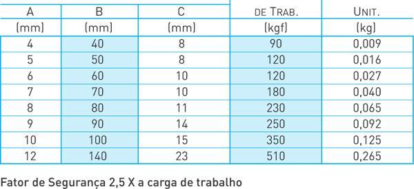 Mosquetão- TRAVA SIMPLES